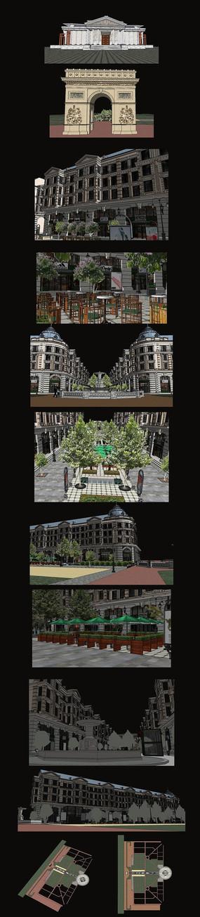 商业区建筑设计