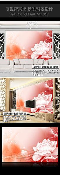 浪漫玫瑰花卧室背景墙