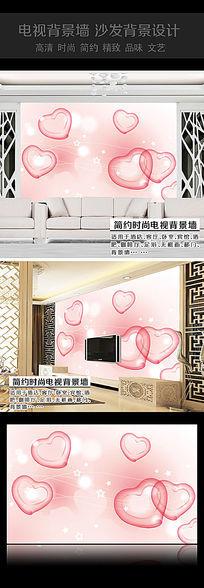 浪漫桃心卧室背景墙
