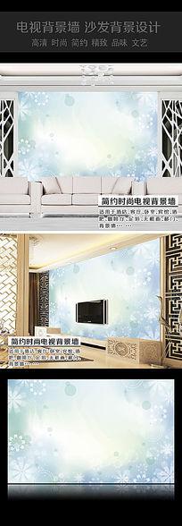 蓝色梦幻卧室背景墙