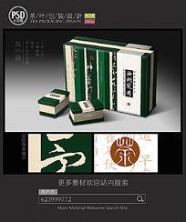 绿色西湖龙井茶叶包装设计