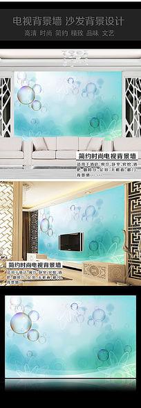 气泡卧室背景墙