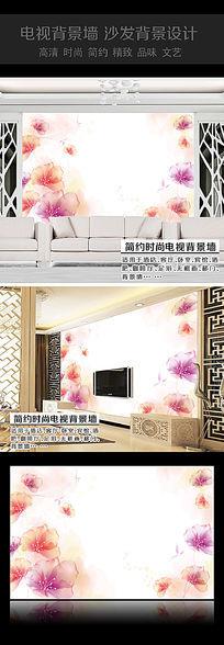 水晶花卉沙发背景墙