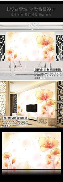 水晶花卉卧室背景墙