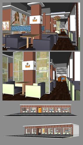 3D咖啡店模型下载