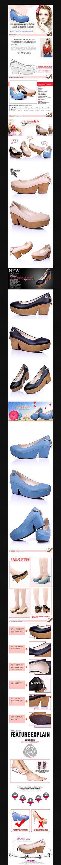 淘宝夏季高跟女鞋详情页描述PSD模板