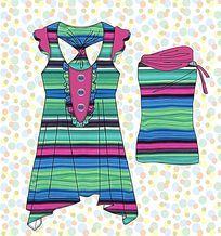 韩版裙子矢量款式 裙子矢量图