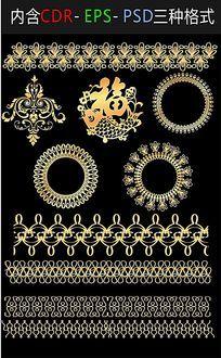 经典欧式边框古典花纹矢量