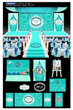 西式婚礼主题背景板设计
