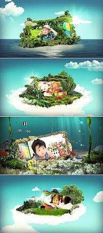 儿童成长纪念相册视频AE模板