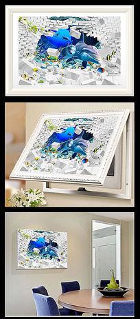 3D立体卡通电表箱装饰画