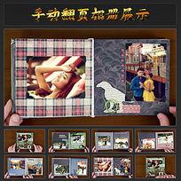 实拍手动翻页相册展示视频ae模板