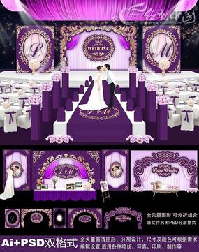 婚礼迎宾背景墙
