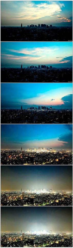 城市夜景灯光拍摄延时实拍视频