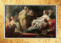 高清宫廷场景油画装饰图