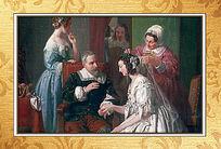 高清宫廷古典油画挂图