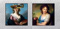 高清宫廷贵妇油画挂图