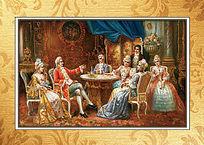 宫廷贵妇高清油画装饰画