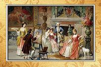 宫廷聚会油画装饰画