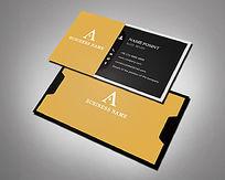 黄黑色经典名片设计
