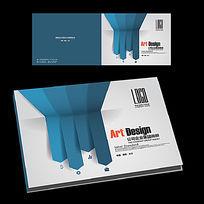 简约蓝色投标书封面横版设计