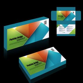 蓝色大气包装盒设计