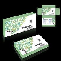 清新化妆品包装盒设计