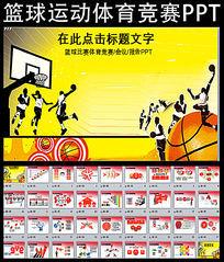 篮球运动竞技PPT模板