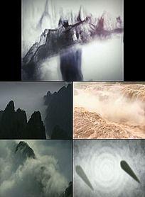 中国风水墨山水LED背景视频素材