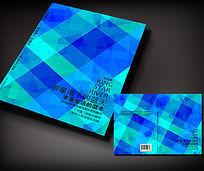 蓝色方格书籍封面设计