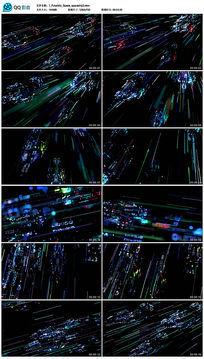 酒吧LED粒子3D未来科技视频
