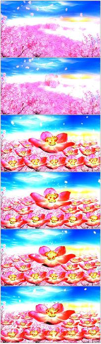 桃花开杏花开视频背景