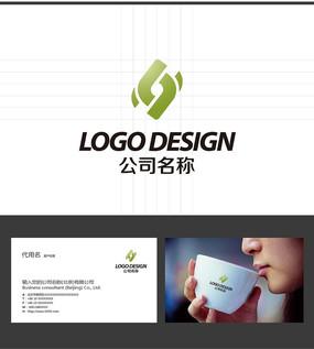 L字母动感LOGO标志设计