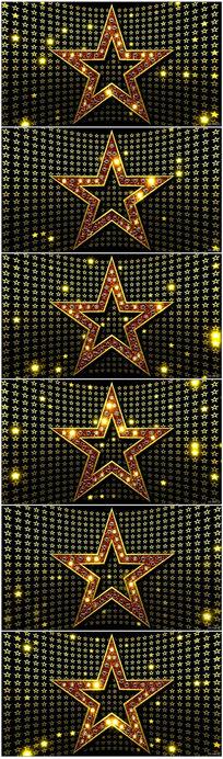 动感五角星视频素材舞台背景VJ视频