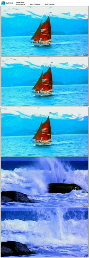 帆船大海航行视频