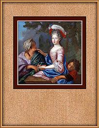 高清古典宫廷油画装饰图