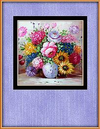 高清花朵古典静物油画挂图