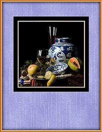 古典静物油画装饰图