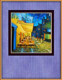 酒吧风景油画装饰图