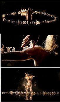 梦幻艺术人体火焰舞蹈视频