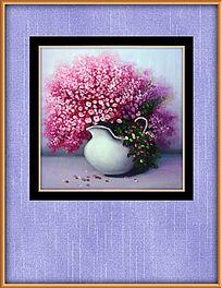 现代笔触花卉油画装饰图