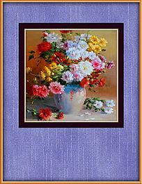 鲜艳花卉油画装饰图