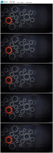 机械齿轮动态背景视频素材