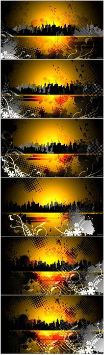 抽象水墨城市视频素材