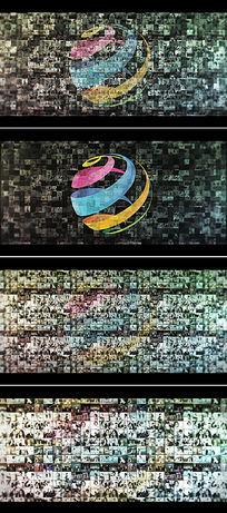 相片视频拼图logo演绎ae模板