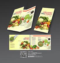 健康果蔬三折页设计