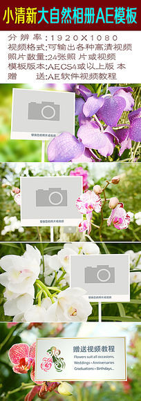 自然小清新视频相册模板