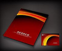 红色弧线宣传册封面设计
