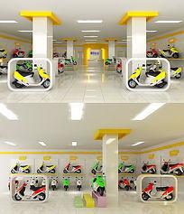 电动车展台3d模型