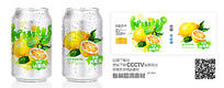 柠檬饮料包装标签设计